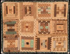 """LOG CABIN DOLL QUILT,Circa 1880  13 1/4"""" x 10 1/4"""", Featured in Crib Quilts and other Small Wonders, by Thos. K. Woodard and Blanche Greenstein, 1981."""