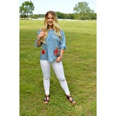{Top $35.75|| Jeans $37|| Platform Sandals $33.50} Comment below with PayPal to purchase and ship or comment for 24 hour hold #repurposeboutique#shoprepurpose#boutiquelove#style#trendy#musthaves#obsessed#fashion#spring#summeready#ashtoncatronphotography