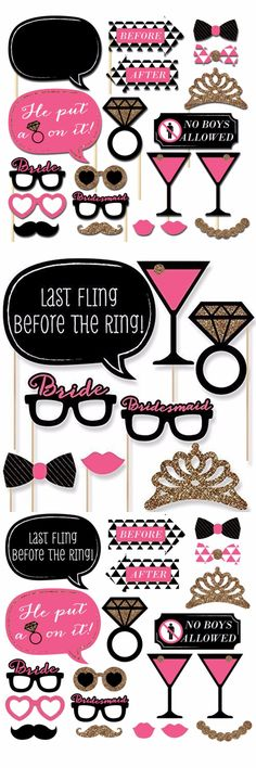 20 pcs/set Bachelorette Party Photo Booth Props On A Stick Girls Night Out DIY Kits Fun Hen Party Decoration Centerpieces $8.95