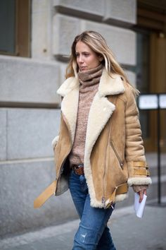 shearling, + turtleneck.