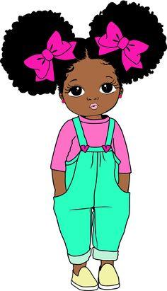 Black Love Art, Black Girl Art, Black Girl Magic, Art Girl, Drawings Of Black Girls, Cute Kawaii Girl, African Art Paintings, Black Girl Cartoon, Cute Girl Wallpaper