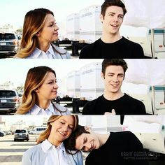 Supergirl & The Flash crossover - Grant Gustin & Melissa Benoist