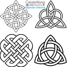 Silkscreen Stencil 4 Celtic Knots Irish Patterns Multi Image for Polym – Create Along with Polymer Clay TV Celtic Dragon, Celtic Art, Celtic Mandala, Celtic Circle, Celtic Crafts, Irish Celtic, Belly Tattoos For Women, Viking Symbols, Mayan Symbols