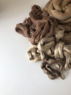 Organic Raw Alpaca Fiber Light Brown Rosa 2018