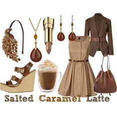 Salted Caramel Latte  (drink inspired fashion)