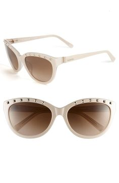 Valentino Studded Cat's Eye Sunglasses available at Nordstrom Ray Ban Sunglasses Outlet, Oakley Sunglasses, Cat Eye Sunglasses, Sunglasses Women, Valentino Sunglasses, Closet Accessories, Cheap Ray Bans, Sunglass Hut, New Fashion Trends