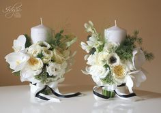 Modern wedding / black and white / lumanari nunta / design Idyllic Events
