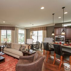 Fredericksburg Area Builders Association Parade of Homes - Toll Brothers Kitchen, Island & Dining