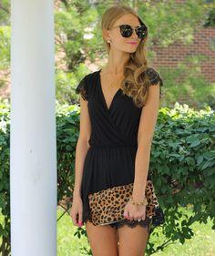 Topshop Black Lace Romper