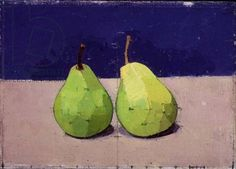Two Pears, Euan Uglow, 1990, oil on canvas.