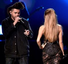Ariana Grande and The Weeknd AMAs 2014