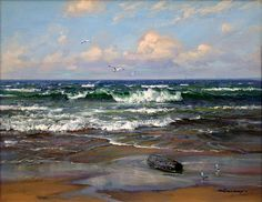 """Shoreline Breakers""  16"" x 20"" Oil on Canvas"