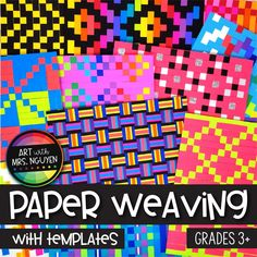 Art Lesson: Paper Weaving (with Templates) - Art Education ideas Art Education Lessons, Art Lessons For Kids, Art Lessons Elementary, Education Quotes, African Art Projects, African Art For Kids, 6th Grade Art, Fourth Grade, Paper Weaving