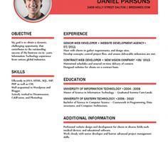 Custom Resume Template  Word Resume Template Photoshop Resume