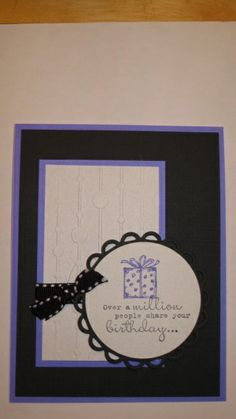 Best of Birthdays, One in a million, spots and dots embossing folder