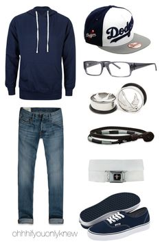 """""""Untitled #180"""" by ohhhifyouonlyknew ❤ liked on Polyvore featuring Standard Supply, Abercrombie & Fitch, Vans, Blue, MyStyle, navyblue, dodgers and mycreations"""