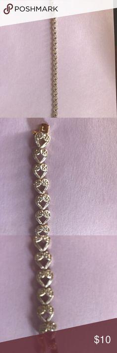"8"" Gold Plated 925 Heart Bracelet 8"" Gold Plated 925 Heart Bracelet unknown Jewelry Bracelets"