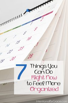 Peace in the Home: 7 Things to Do Right Now to Feel More Organized
