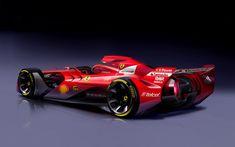 Ferrari F1 Concept design sketch render