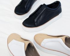 Soft genuine calf hair adds to the luxurious appeal of a slip-on sneaker that's a versatile street-style must-have. A platform rubber sole adds to the modern look.