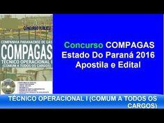 Apostilas Edital Concurso Público |  COMPAGAS  2016 PR |