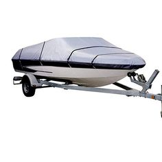 Fits V-Hull Tri-Hull Runabouts and Bass Boats,Green Gray LEADALLWAY Heavy Duty 210D Polyester Cover Marine Grade Trailerable Boat Cover