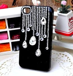 Black and bling phone case ideas for me чехол для телефона, Bling Phone Cases, Diy Phone Case, Cute Phone Cases, Iphone Cases, Whatsapp Pink, Decoden Phone Case, Galaxy S4 Case, Coque Iphone, Mobile Cases