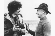 Director Philip Borsos with Richard Farnsworth on the set of The Grey Fox, 1983.