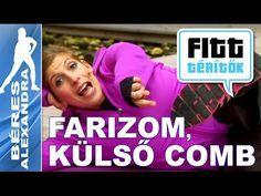 Béres Alexandra - Farizom és combizom edzése (Fitt-térítők sorozat) - YouTube Zumba, Pilates, Gym, Youtube, Workout, Health, Fitness, Sports, Rock
