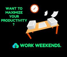 WANT TO MAXIMIZE YOUR PRODUCTIVITY? WORK WEEKENDS.    Times have changed since Dolly Parton sang about working 9-to-5 each day. Virtual collaboration, an international workforce, and the rise of mobile devices have turned the workday into a 24/7 possibility – and the workplace can be anywhere.    That doesn't mean that people should work 24/7 – work/life balance is extremely important to long-term employee and company success – but what it does is open up the door for a non-traditional work…