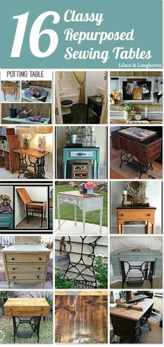 16 lovely repurposed sewing tables