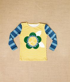 Persnickety Clothing - Basic Tee with Flower Applique