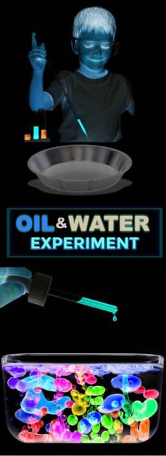 AMAZING KID SCIENCE: Glowing oil & water experiment. My kids were in awe!