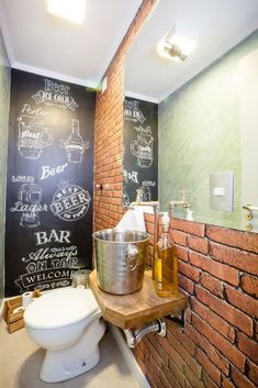 Transformación de un obscuro Bar en un asombroso lugar dentro de Madrid – Todo Fachadas Restaurant Design, Pub Design, Modern Restaurant, Wc Public, New Yorker Loft, Pub Decor, Home Decor, Pub Bar, Dream Bathrooms