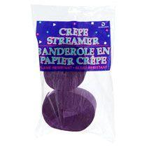 Bulk Purple Crepe Paper Streamers, 72½-ft., 2-ct. Packs at DollarTree.com (4pks= 1 jumbo OT roll, +80 ft)