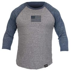 Always play to win, there is no other option. Grunt Styles Men's Basic Raglan - Navy & Grey is a soft and durable men's navy and grey frost raglan shirt that is made out of 50% polyester, 25% cotton and 25% rayon. Original Grunt Style design and is guaranteed to you 100% by our 'Beer Guarantee'.