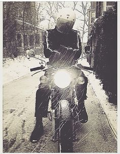 """""""NOT ready to put away the sleds.""""  1969 Honda CD175"""