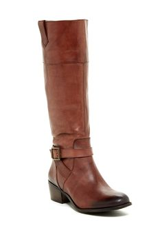 Arturo Chiang Beatrix leather boot. Color WHISKEY