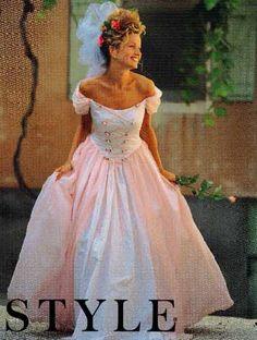 Vintage Style Pattern Renaissance WeddingGown  Bridesmaid Dress in 2 Views UNCUT Size 6-16. $10.00, via Etsy.