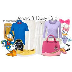 Donald & Daisy Duck by leslieakay on Polyvore featuring Band of Outsiders, J.TOMSON, Project C.A.N.V.A.S, Call it SPRING, MICHAEL Michael Kors, Snö Of Sweden, pakerson, Norse Projects, Uniqlo #disney #disneybound