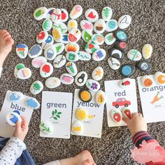 """1,110 Likes, 35 Comments - A Crafty LIVing • Olivia (@acraftyliving) on Instagram: """"Story telling & Colour Sorting with our Story Stones & Colour Flashcards.  These Story Stones are…"""""""