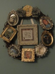 Picture frame wreath :)