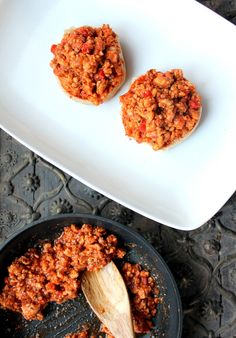 Super Lean Turkey Sloppy Joes - Great reviews say this is better than the canned version...and it's only 233 calories a serving, including a whole wheat bun! Use ground chix instead of turk. See if the hubby approves...