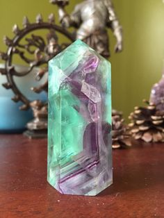 A personal favorite from my Etsy shop https://www.etsy.com/listing/290885365/gorgeous-rainbow-fluorite-tower-point