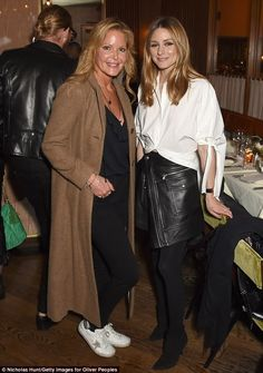 Connecticut-born socialite: Olivia also made sure to pose with Paige Denim founder Paige Adams-Geller during the fashionable festivities