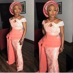 Gorgeous Aso Ebi Styles that will Wow You Nigerian Lace Styles, Ankara Gown Styles, Trendy Ankara Styles, Ankara Dress, Latest Aso Ebi Styles, Cord Lace Styles, African Fashion Dresses, African Dress, Nigerian Fashion