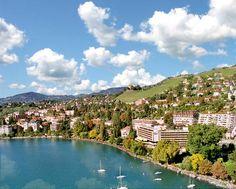 Montreux, Switzerland!! Beautiful city along Lake Geneva, Switzerland.  We were there Sept. 2000, loved it.