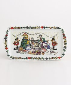 Take a look at this Alice Christmas Tea Party Rectangular Tray on zulily today!