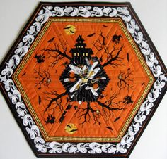 Table Runner - Spooky Quilted Haunted Halloween Autumn. $22.00, via Etsy.
