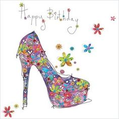 'Birthday Shoe' £1.75 Find beautiful greetings cards at www.alexclarkcards.co.uk